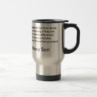 Navy Son No Problem Mom Travel Mug