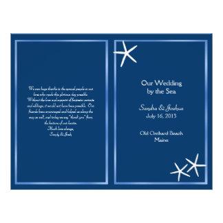 Navy Starfish Beach Wedding Program