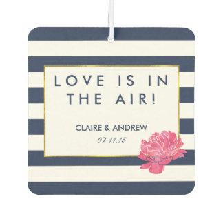 Navy Stripe & Pink Wedding Favor Air Freshener