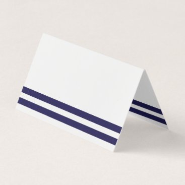 origamiprints Navy Striped Place Card