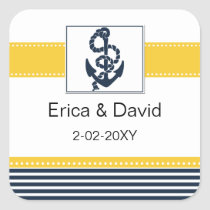navy stripes,anchor, nautical favor stickers
