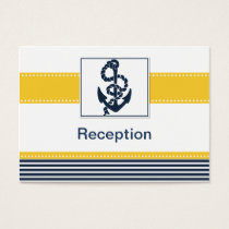 navy stripes,anchor, nautical Reception cards
