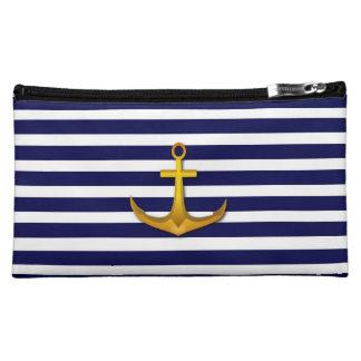 Navy Stripes Bagettes Bag Makeup Bag