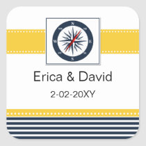 navy stripes,compass, nautical favor stickers