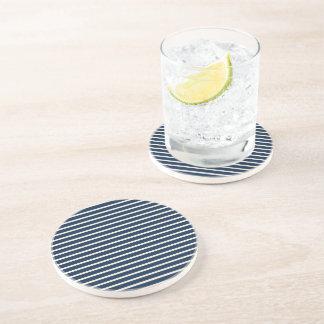 Navy Stripes Drink Coaster