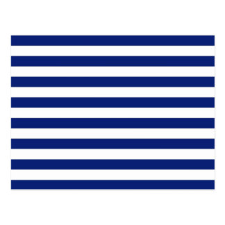 Navy Stripes Nautical Decor Postcard