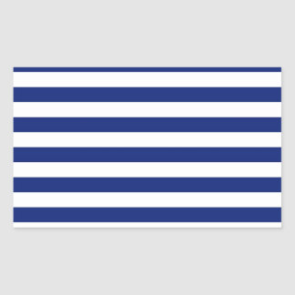 Navy Stripes Nautical Decor Rectangular Sticker