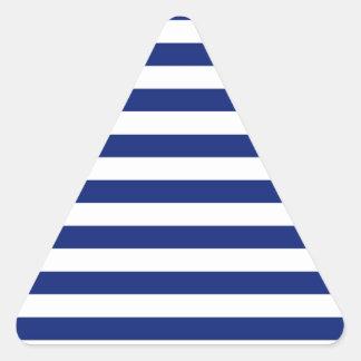 Navy Stripes Nautical Decor Triangle Sticker