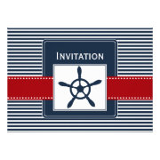 navy stripes, rudder, nautical wedding invites by mgdezigns