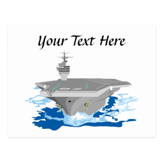 Navy Super Carrier Fighting Ship Postcard