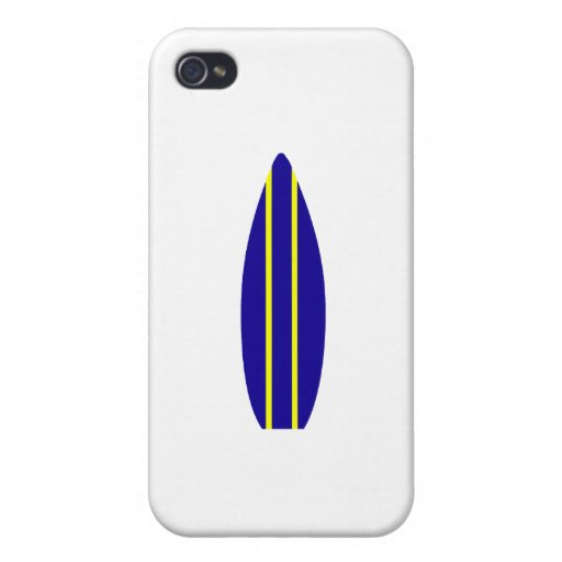 Navy Surfboard iPhone 4 Covers