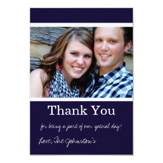"Navy Thank You Wedding Flat Cards 3.5"" X 5"" Invitation Card"
