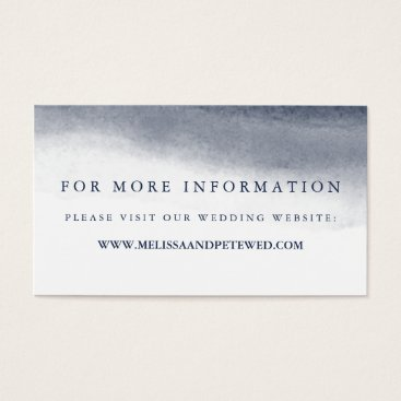 Beach Themed Navy Tides Wedding Website Cards