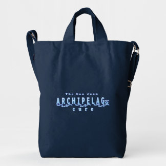 Navy Tote Shoulder Bag with San Juan Archipelago