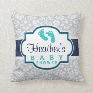 damask baby shower pillows decorative throw pillows zazzle