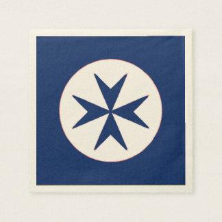 Navy Tuscany Medici-blue corsair Paper Napkins