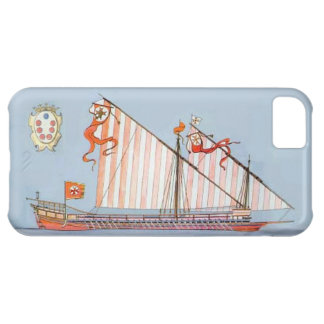 Navy Tuscany Medici Case For iPhone 5C