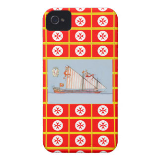 Navy Tuscany Medici iPhone 4 Case