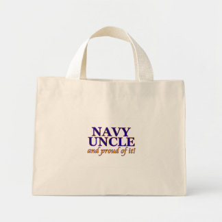 Navy Uncle and Proud of It Canvas Bags