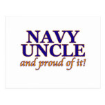 Navy Uncle and Proud of It Postcards