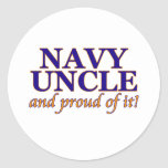 Navy Uncle and Proud of It Sticker