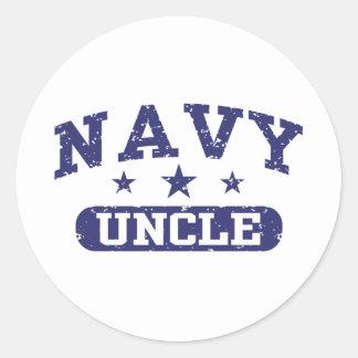 Navy Uncle Classic Round Sticker