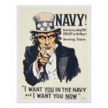 Navy!  Uncle Sam is calling you Poster