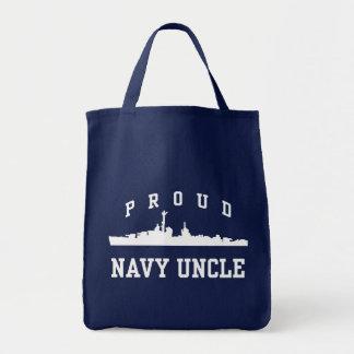 Navy Uncle Tote Bag