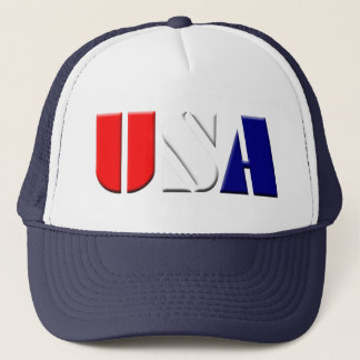 Navy USA Truckers Hat