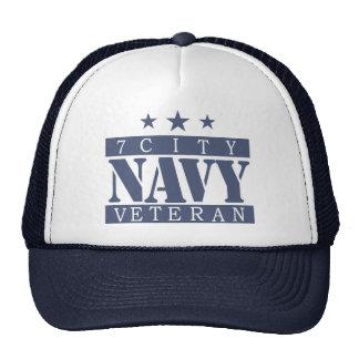 NAVY Vet - Blue Logo Trucker Hat