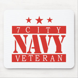 NAVY Vet - Red Mouse Pad