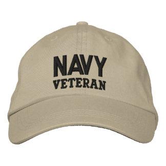 Navy Veteran Military Embroidered Baseball Hat