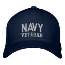 Navy Veteran Military Vet Embroidered Baseball Cap