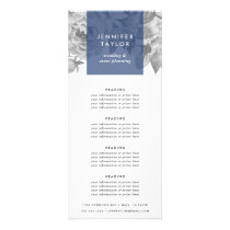 Navy | Vintage Floral Pricing or Services Rack Card