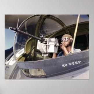 Navy War Bird 30-Calibre Machine Gun Poster