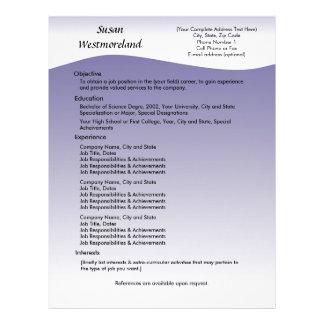 Navy Wave Custom Resume Template Letterhead