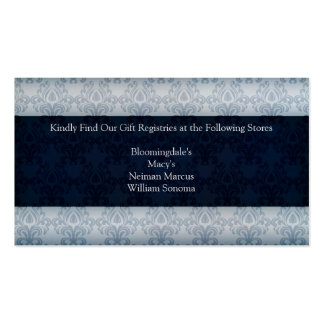 Navy Wedding Gift Registry Card Double-Sided Standard Business Cards (Pack Of 100)