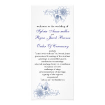 navy Wedding program