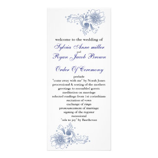 navy Wedding program