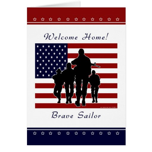 Navy - Welcome Home Sailor Greeting Card