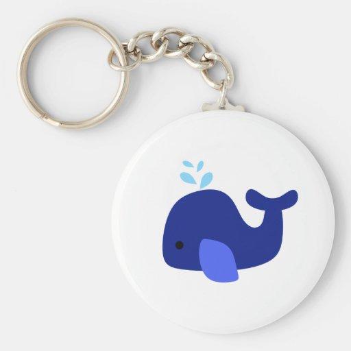 Navy Whale Keychain