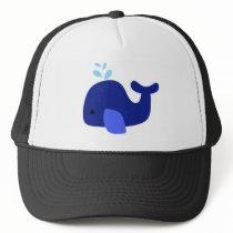 Navy Whale Trucker Hat
