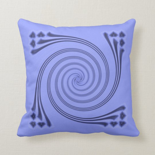 Navy Whirligig Pillow