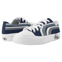 Navy White and Gray Sojourn Max Low-Top Sneakers