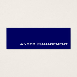 Navy white Anger Management business cards