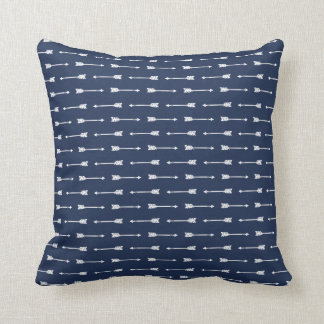 Navy & White Arrows Pattern Pillow