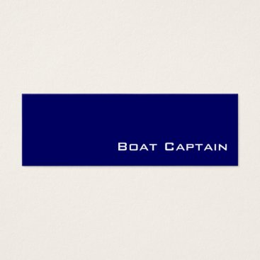 Professional Business Navy white Boat Captain business cards
