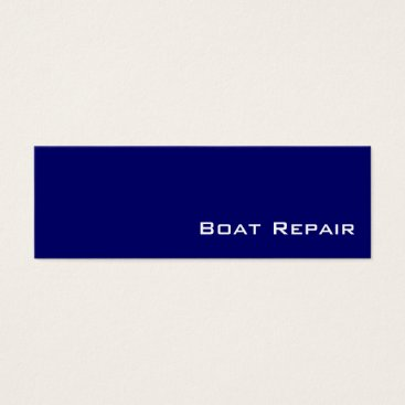 Professional Business Navy white Boat Repair business cards