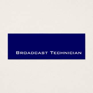 Navy white Broadcast Technician business cards
