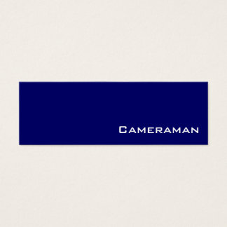 Navy white cameraman business cards